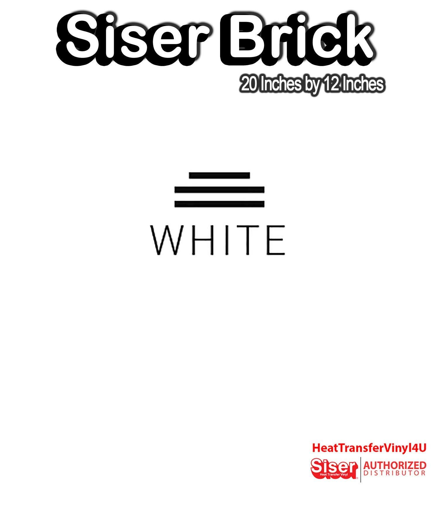 "Siser Brick 600 Iron On Heat Transfer Vinyl 20"" (White, 1 Foot)"