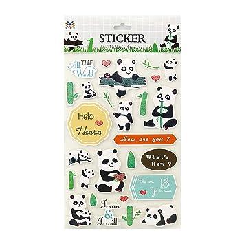 Toruiwa Autocollants Stickers Kawaii Panda Motif Décor Accessoires Bullet  Journal pour Bricolage Dessin sur Agenda Scrapbooking
