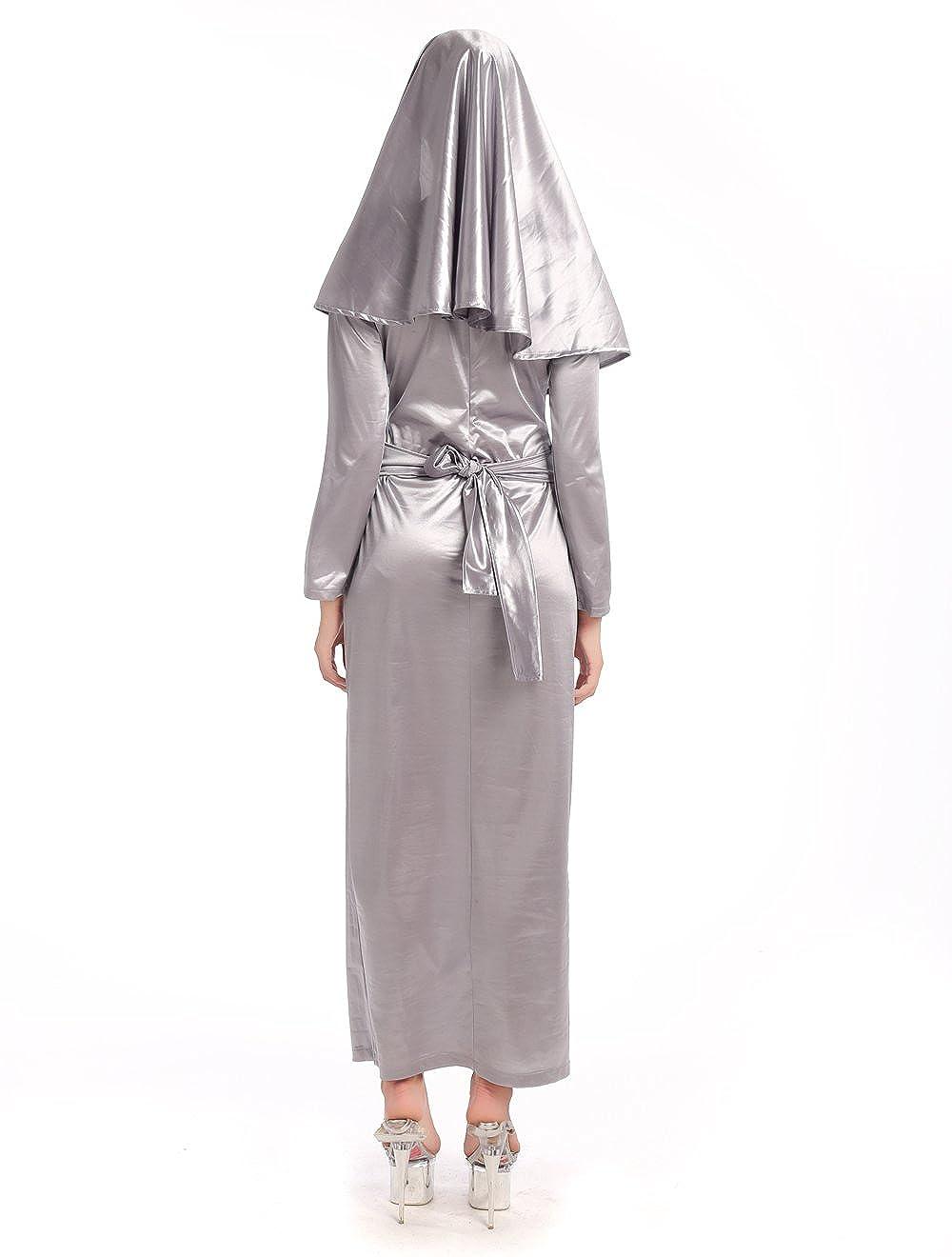 Amazon.com: Nun – Disfraz para Halloween – sexy zombie Nun ...