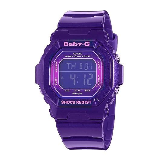Casio Mujer bg5600sa-6cr Baby-G Digital Deporte Reloj Color púrpura metálico: Amazon.es: Relojes
