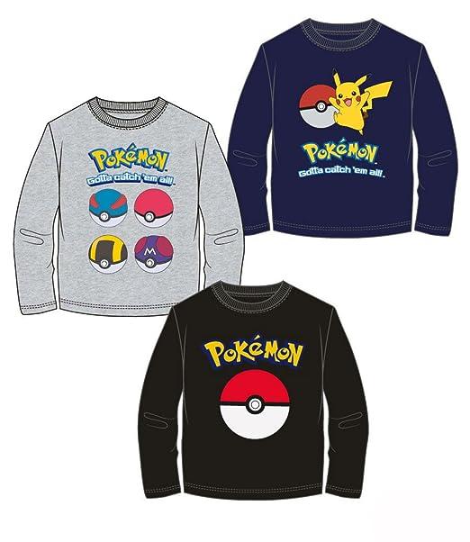 Pokèmon Pokemon - Camiseta de Manga Larga - Para Niño Multicolor 8 Años
