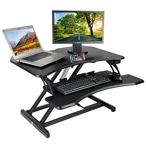 Eléctrico Escritorios Mesa de Ordenador Oficina portátil Mesa de Estudio Puesto Ajustable estación de Trabajo