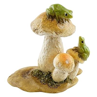Top Collection Miniature Fairy Garden and Terrarium Mini Frogs on Mushrooms Statue: Garden & Outdoor