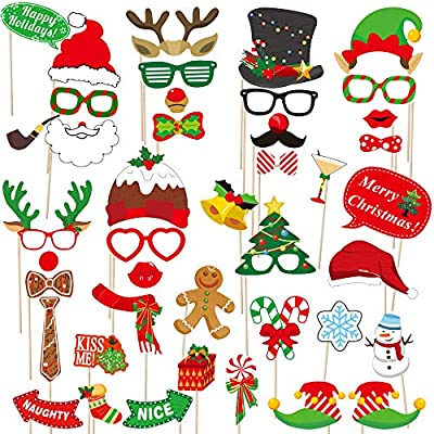 Photo Booth Props Christmas Kids Birthday Party Family Selfie Fun 16 Pack