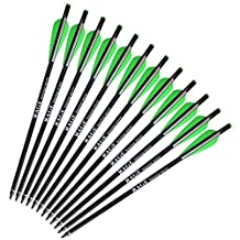 "12pcs/lot 17"" Fiberglass Arrows Archery Hunting OD 8mm Crossbow Bolt Arrows with Changeable Arrowheads"