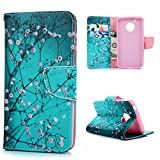 Moto G5 Case,MOLLYCOOCLE Premium PU Leather Soft TPU Bumper Wallet Purse Cover with Kickstand ID & Credit Card Pockets Magnetic Closure Flip Folio Skin Shell for Motorola G5 (2017 Released), Butterfly