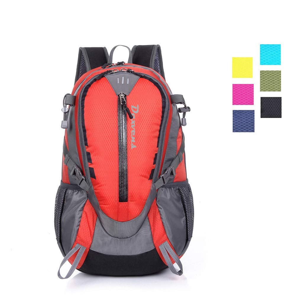 Daxvens Day Hiking Backpack with Chest Wasit Strap for Men Women Youth, 25L Small Lightweight Water-Resistant Daypack Carry-On Camping Climbing Trekking Cycling Commuter by Daxvens (Image #1)