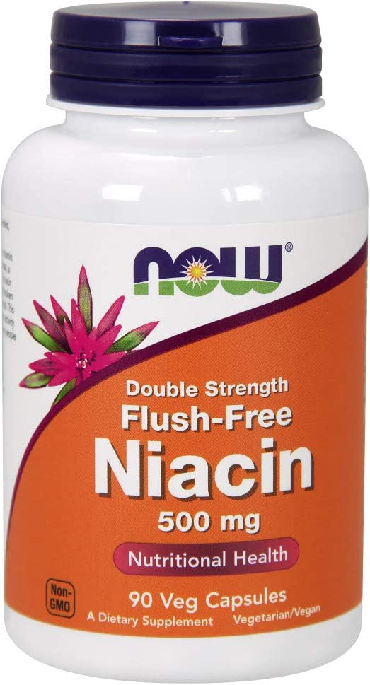 Now Supplements, Flush-Free Niacin 500 mg, 90 Veg Capsules