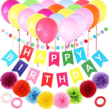 happy birthday decoration set west bay birthday party supplies 35pcs colorful balloon happy