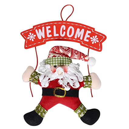 qbsm christmas wreath christmas snowman party door decoration christmas door hanging home shop decoration santa