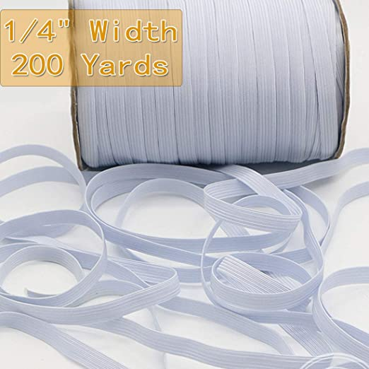 1 4 Inch 200 Yards Elastic Bands For Sewing White Elastic Cord