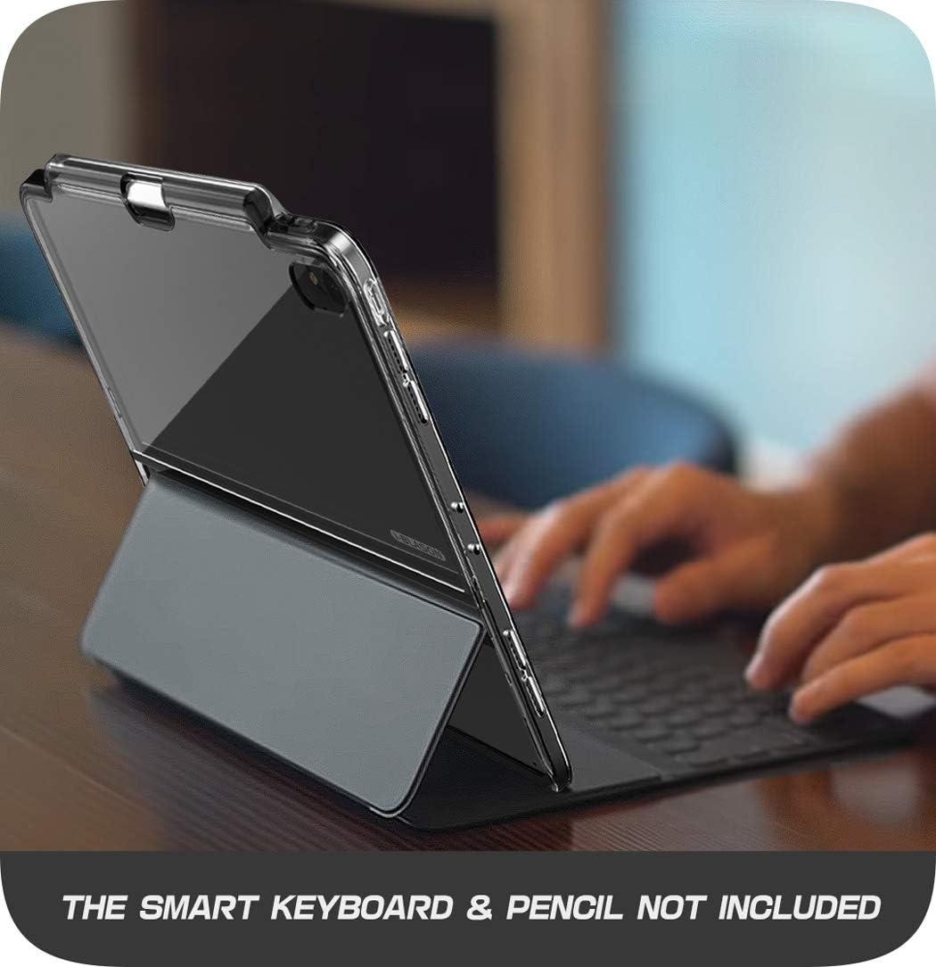i-Blason Funda iPad Pro 11  2018, Transparente Compatible con la cubierta oficial y el teclado inteligentes Case protectora h/íbrida transparente con soporte para l/ápiz para iPad Pro 11 Inch 2018