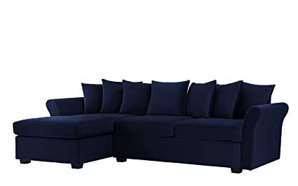 Amazoncom Divano Roma Furniture Modern Large Velvet Sectional Sofa