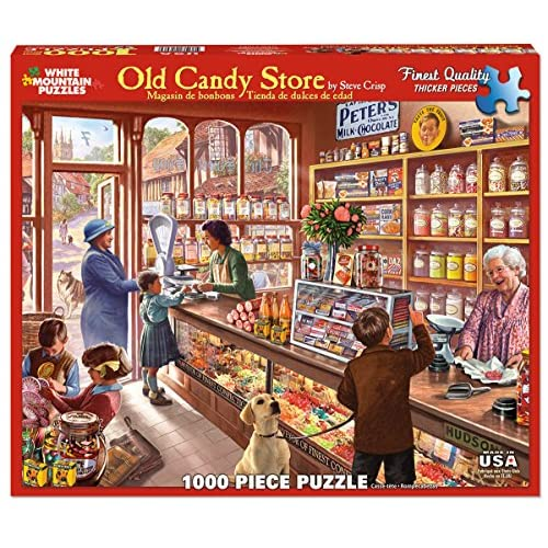 70%OFF White Mountain Puzzles Old Candy Shop - 1000 Piece Jigsaw ...