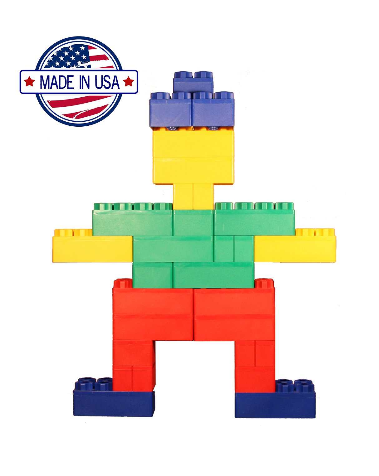 96pc Jumbo Blocks - Standard Set (Made in the USA) by Kids Adventure (Image #2)