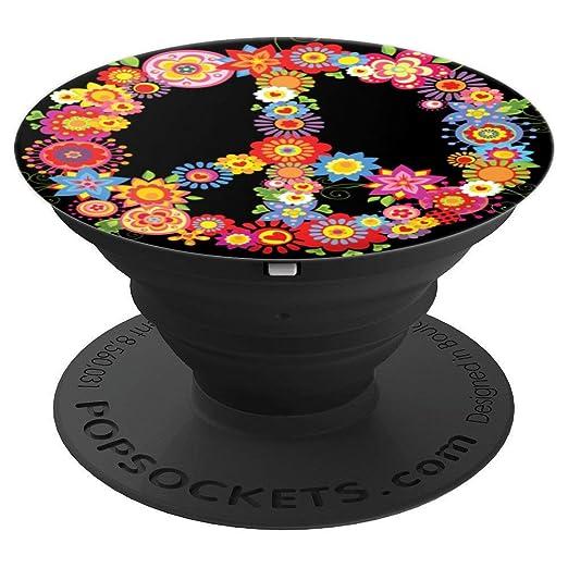 Amazon.com: Pizarra de popsocket con diseño de flores, retro ...