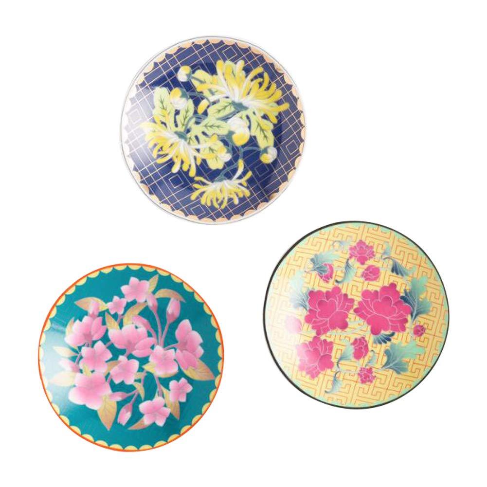 Floral Asian Inspired Porcelain Tea Bag Rest Holder Set of 3 by WM