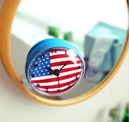 Reloj de Pared 3D Creativa bandera americana Bell baño / nevera / cocina / impermeable /