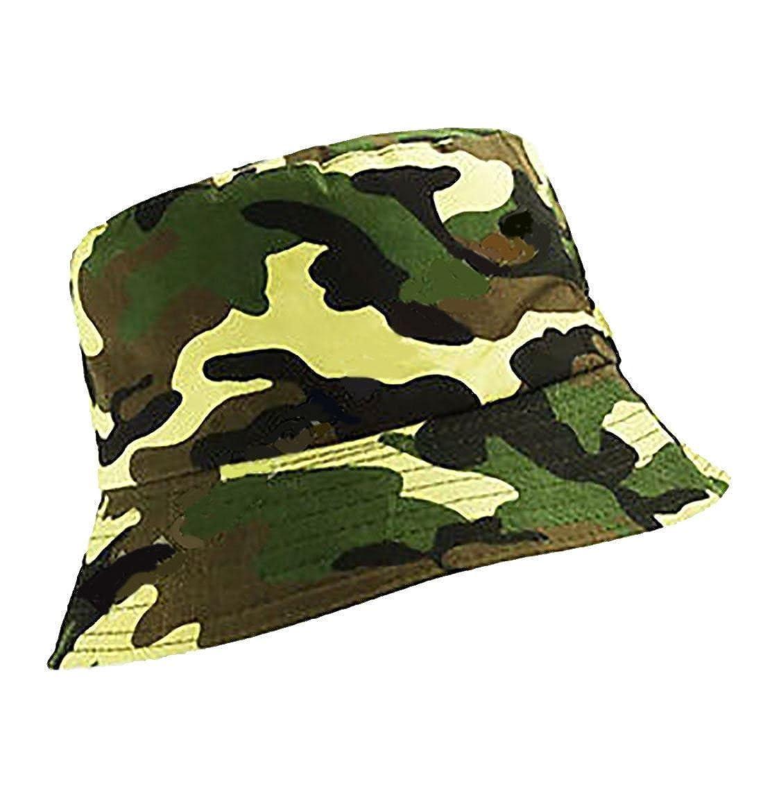 MA ONLINE Mens Summer Travel Flat Bucket Hat Womens Fishing Outdoor Beach Festival Sun Cap One Size