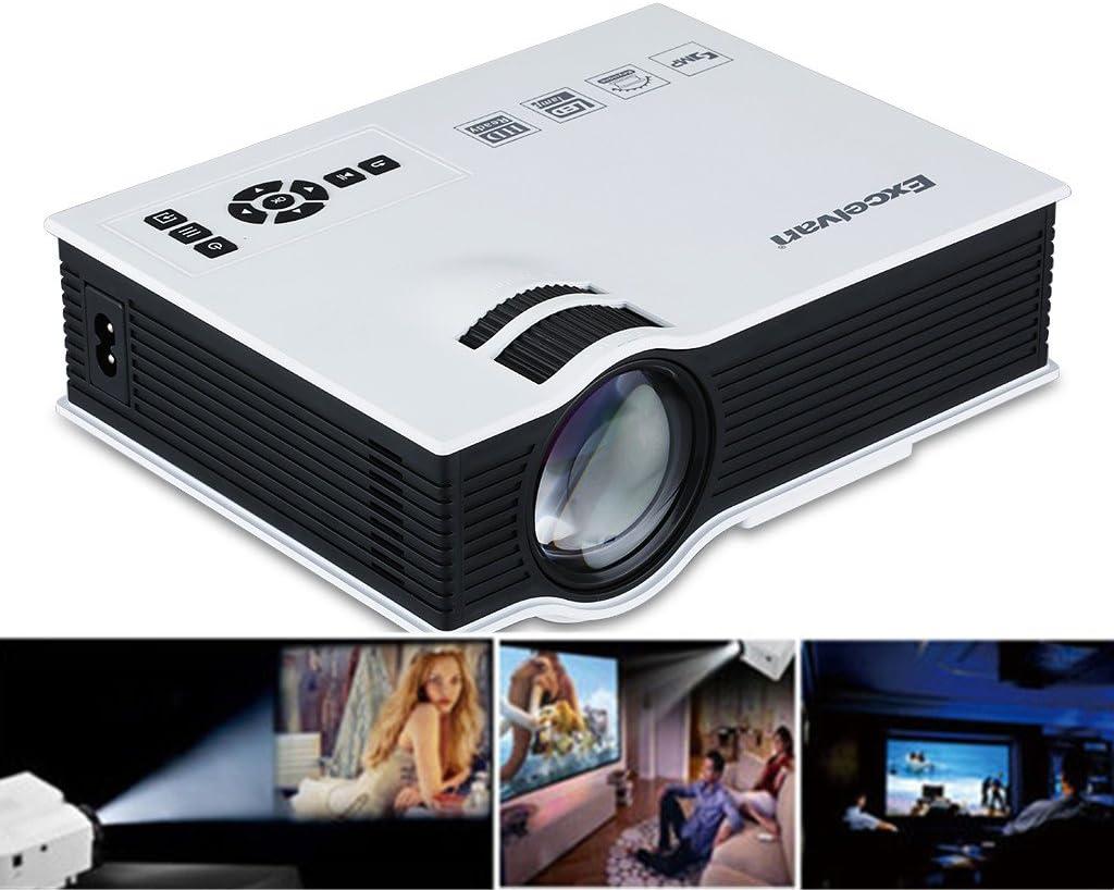 Excelvan® UC40 800 Lúmenes Mini Proyector Multimedia LED Home ...