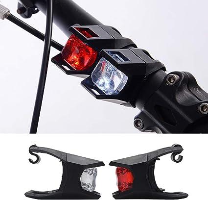 MASO Luz LED para Bicicleta de montaña (Blanca) y Trasera (Rojo ...