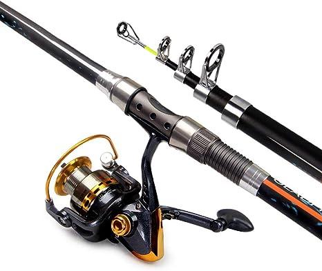 Combinaciones telescópicas para cañas de pescar y carretes Kit ...