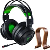 Razer RZ04-02910100-R3U1 Nari Ultimate 7.1 Surround Sound Wireless Gaming Headset for Xbox ONE Bundle with Deco Gear Wood Headphone Display Stand Secure Tabletop Holder/Gaming Headset Hanger