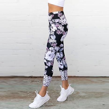 Dwevkeful Leggins Mujer Fitness Push Up Cintura Alta,Pantalones Mallas Deportes de El/ásticas Impresi/ón Atractivo Shaper Mujer Pantalones fluidos para Yoga Danza Ganduleado Pilates