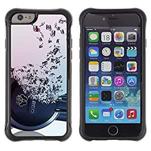 SHIMIN CAO@ Headphones Music Symbol Love Ears Notes Rugged Hybrid Armor Slim Protection Case Cover Shell For iphone 6 6S CASE Cover ,iphone 6 4.7 case,iphone 6 cover ,Cases for iphone 6S 4.7