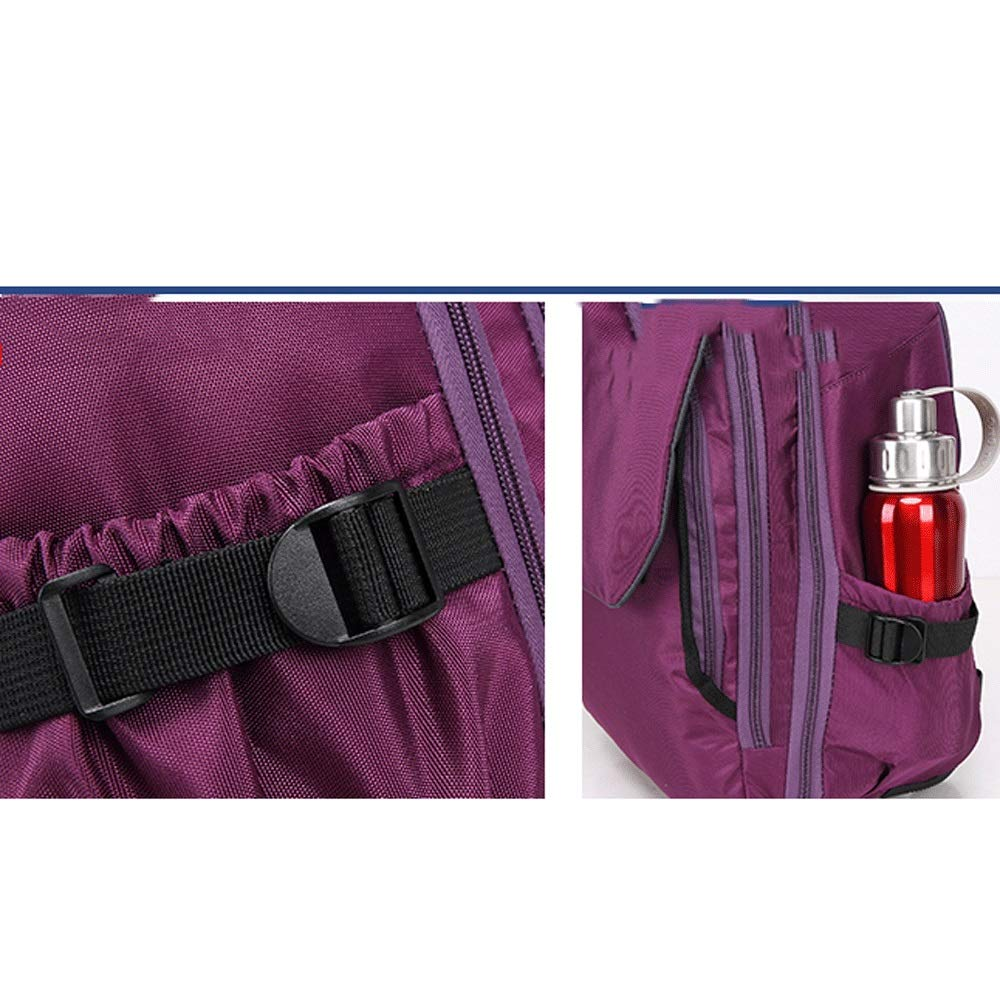 5GHjkj Trolley Bag Travel Out Large Capacity Anti-wear Primary and Middle School Schoolbag Color : Purple, Size : M