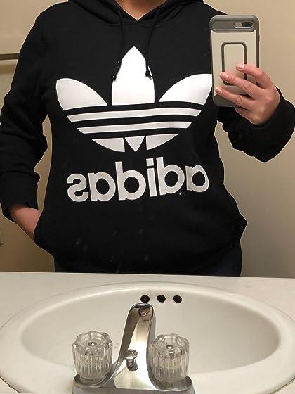 adidas Originals Women's Trefoil Hoodie I went a size down. Good call.