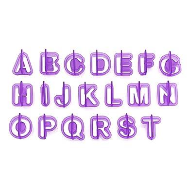 Alfabeto Letras Fresa Número Fondant Pasteles Galletas forma Hornear Moldes moho 40pcs