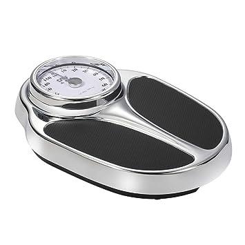Básculas Digitales Báscula de pesaje mecánica Alta precisión Adulto Saludable Bajar de Peso Básculas de baño Fácil de Leer Plataforma de Metal Resistente ...