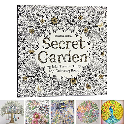 MENGCORE 25cm x 25cm 96 Pages English Secret Garden Coloring Books for Adults Relieve Stress Kill Time Graffiti Painting Book Libros