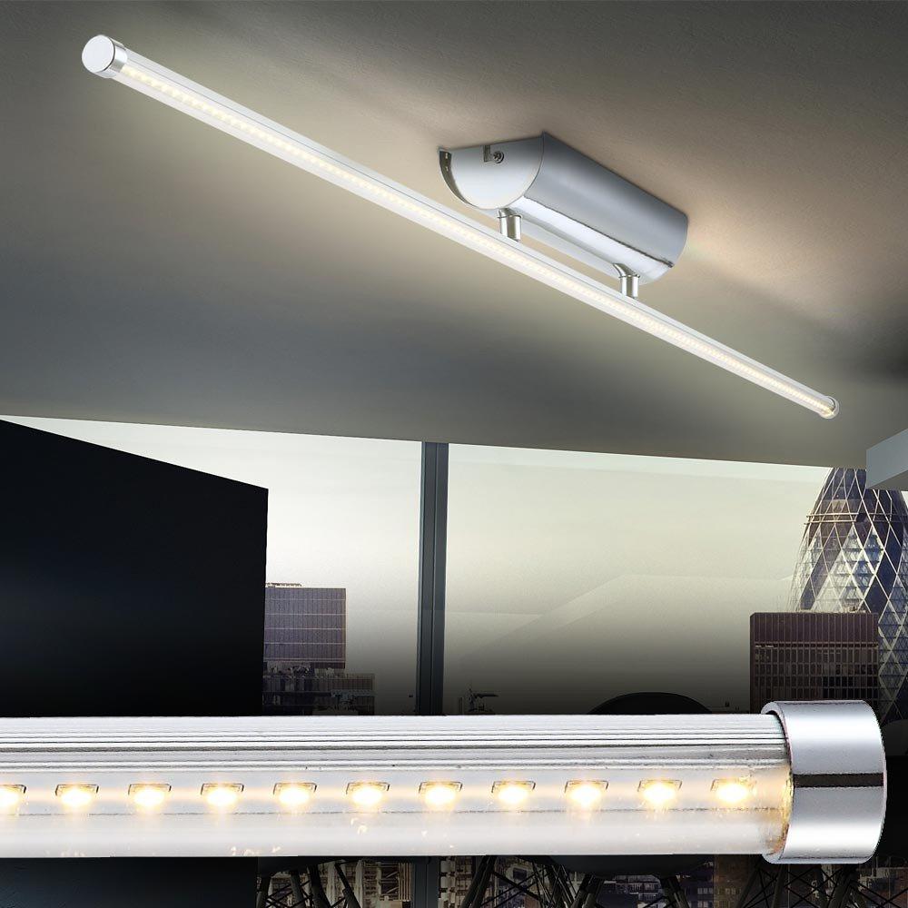 12 Watt LED Deckenleuchte Lampe Licht Chrom Deckenbeleuchtung ...