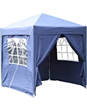 Airwave 2.0x2.0mtr Pop Up Gazebo, Fully Waterproof with Four Side Panels and Carrybag
