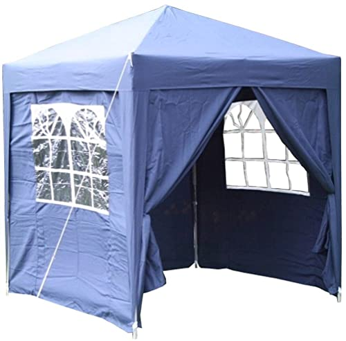 Airwave 2.0x2.0mtr BLUE Pop Up Gazebo, FULLY WATERPROOF with Four Side Panels and Carrybag