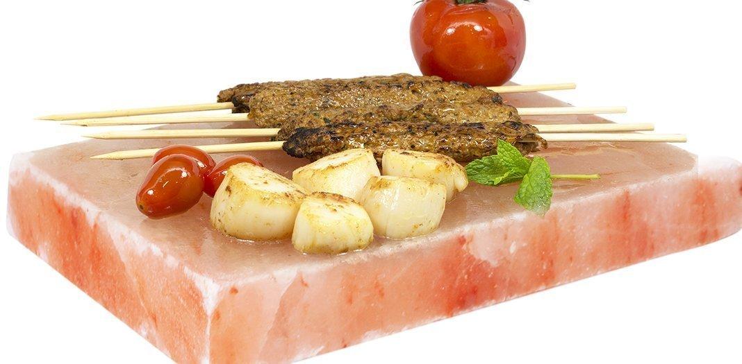 SalNatural Salz GRILLSTEIN 20x20x4 cm Ideal F/ÜR Grill Fleisch Fisch Eier Grillplatte Servierplatte Himalayan* Direkt Anbieter von Pakistan