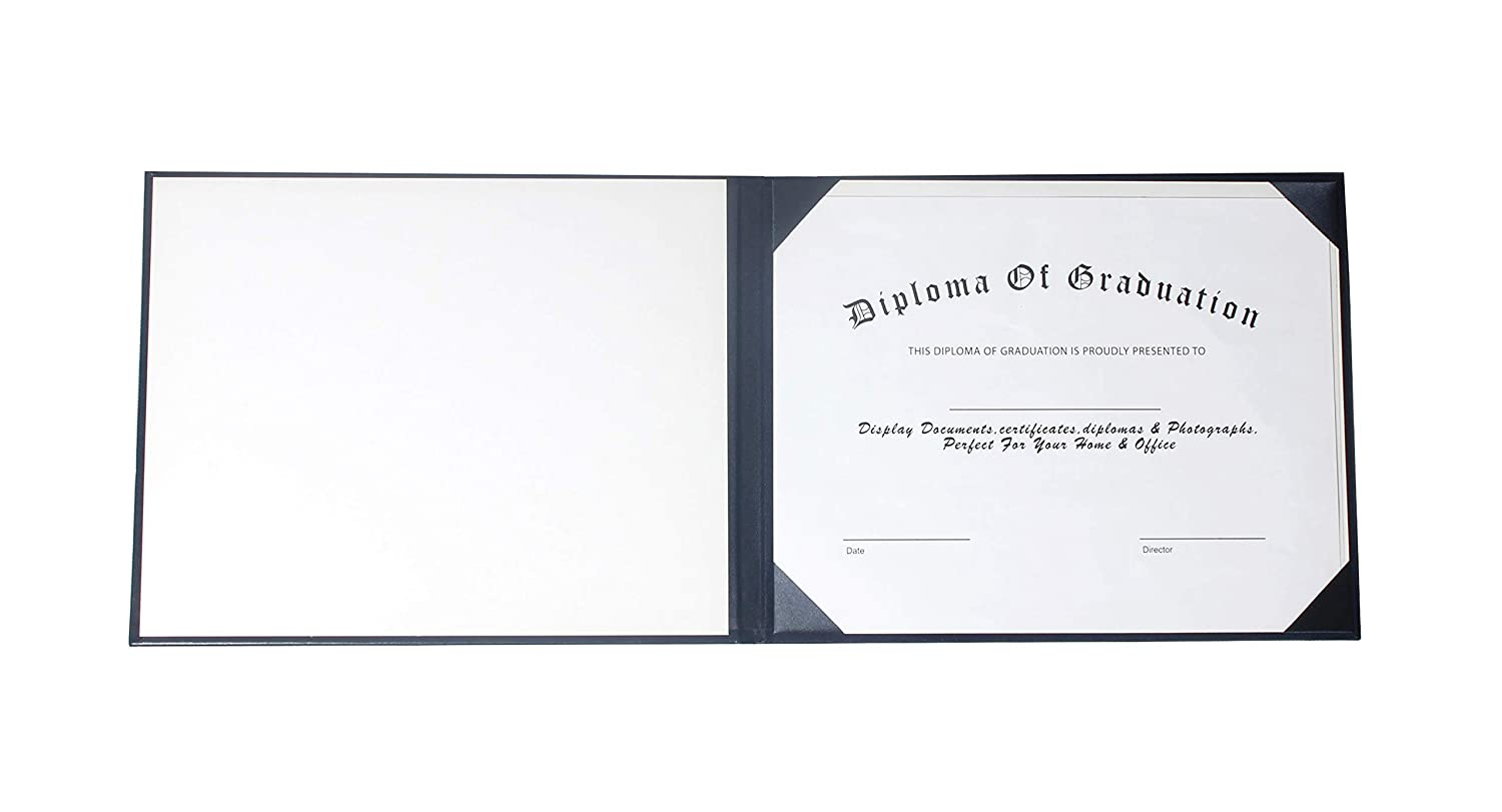 GraduationService Smooth Diploma Holder Certificate Cover 8 1//2 x 11