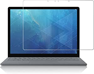 J&D Compatible for Microsoft Surface Laptop 2 Screen Protector/Surface Laptop Glass Screen Protector (1-Pack), Not Full Coverage, Tempered Glass HD Clear Ballistic Glass Screen Protector