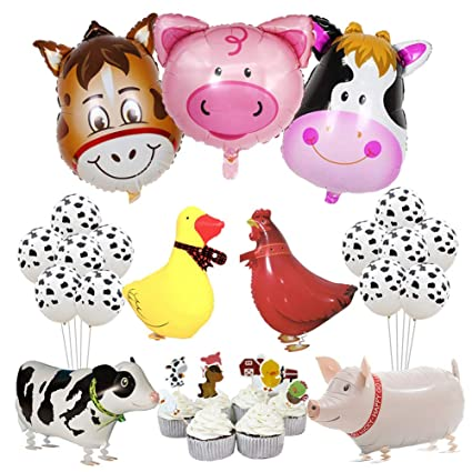 Image Unavailable Not Available For Color Farm Animal Party Decorations