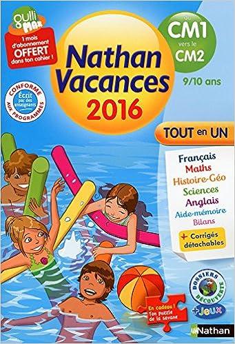 Amazon Fr Nathan Vacances Primaire Du Cm1 Vers Le Cm2
