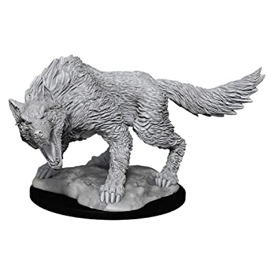 Dungeons and Dragons Nolzur's Marvelous Miniatures: Winter Wolf (90030): Toys & Games