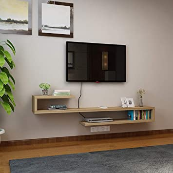 Estante de la Pared Mueble TV de Pared Estante Flotante Set Top ...