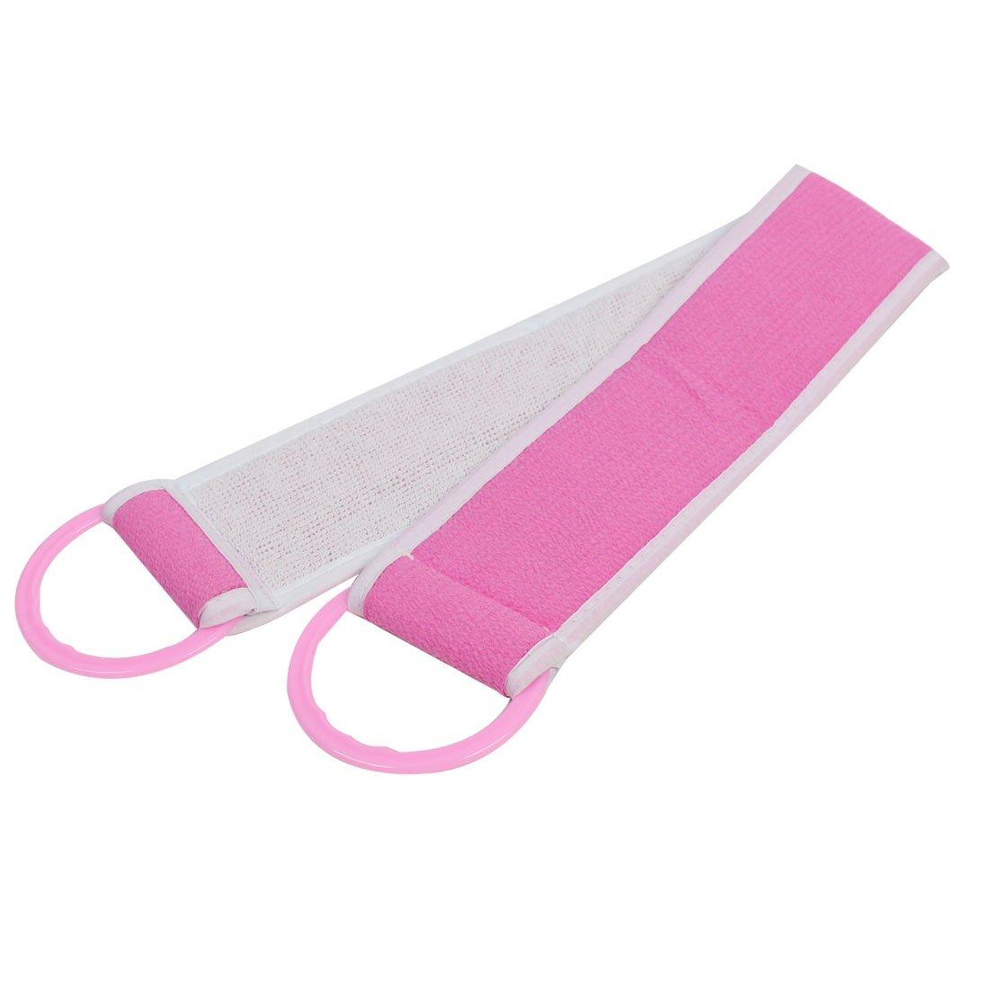 sourcingmap® Famiglia Bagno doccia Utensile Di Pulizia corpo Bagno Strofinare massaggio asciugamano rosa SYNCFHK006360