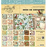 Graphic 45 Time to Flourish Pad for Scrapbooking, 8 by 8-Inch