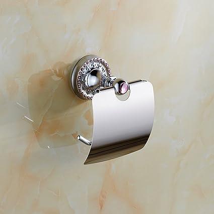 Soporte de papel higiénico resistente a la corrosi Papel higiénico de diamante Porta-toallas Papel