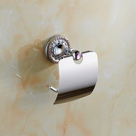 Soporte de papel higiénico resistente a la corrosi Papel higiénico de diamante Porta-toallas Papel higiénico Porta-rollo De alto grado de cobre Papel ...