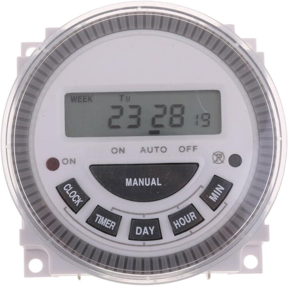 Baoblaze Hebdomadaire 220v Num/érique Minuterie Programmable Interrupteur Horaire Relais Puissance