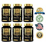 Bone Broth Protein Powder Superfood Capsules - Organic Dehydrated Grassfed Beef + Chicken Powder Blend Pills - Non-GMO - Great Source of Collagen + Bone Broth Protein (1,080 Capsules Total)
